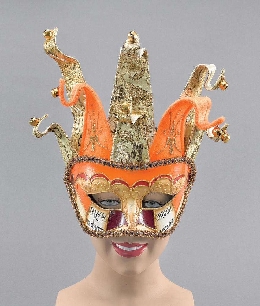 Venetian Jester. Orange/Gold