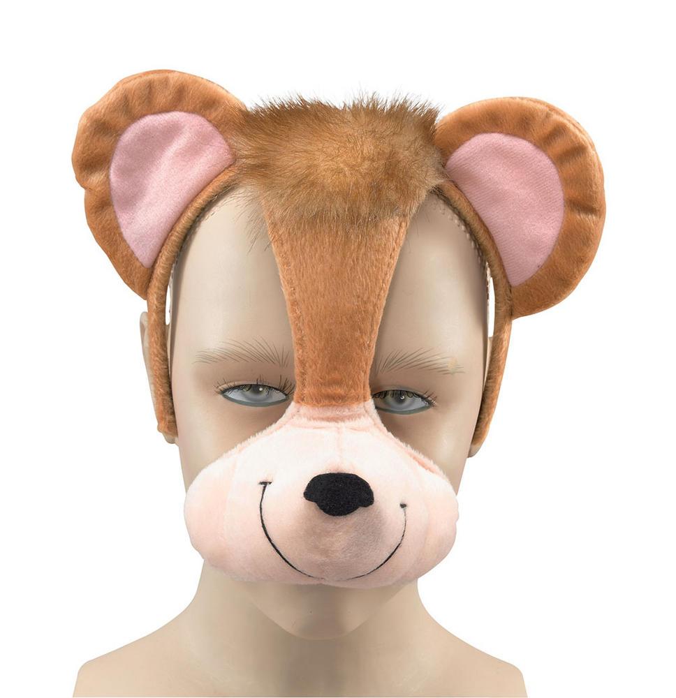Monkey Mask On Headband +Sound