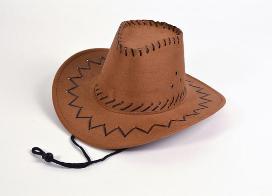 Childs Brown Cowboy Hat Thumbnail 1