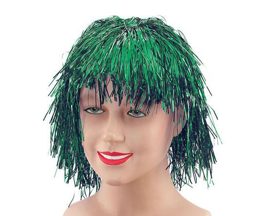 Tinsel Wig.  Green Thumbnail 1