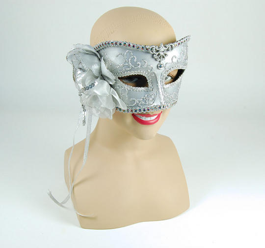 Silver Mask With Rose Thumbnail 1