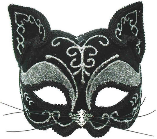Black Cat Mask Decorative Thumbnail 1