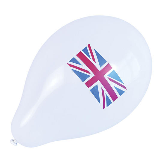 Union Jack Balloons (10 in pkt) Thumbnail 1