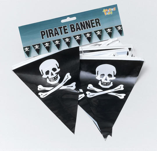 Pirate Bunting. 7m/25 Flags Thumbnail 1