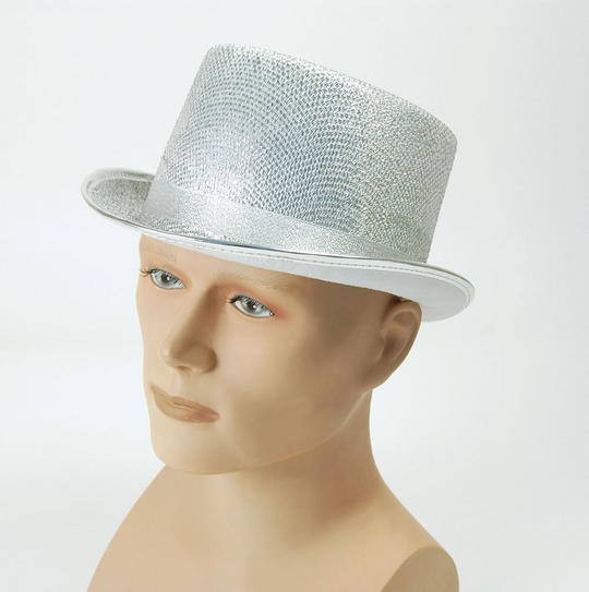 Top Hat. Silver Lurex Thumbnail 1