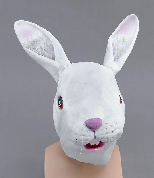 White Rabbit Rubber Overhead Mask Thumbnail 1