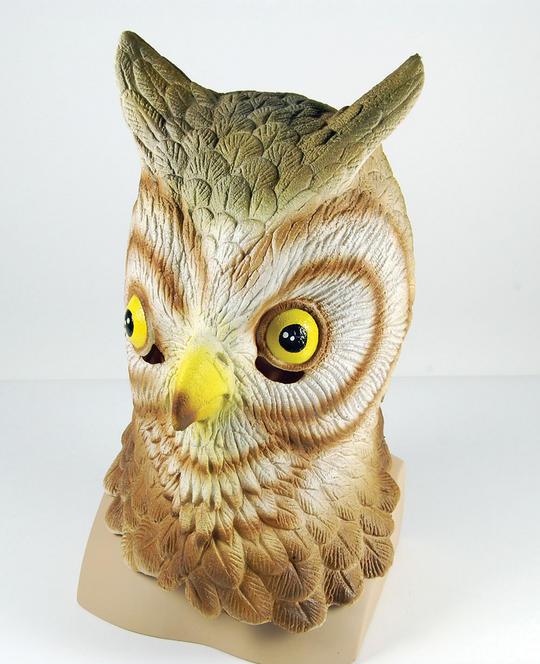 Owl Rubber Overhead Mask Thumbnail 1