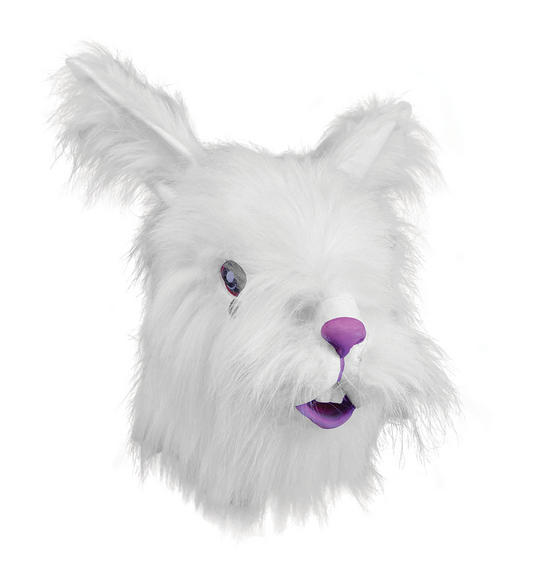 Rabbit Mask + White Fur Thumbnail 1