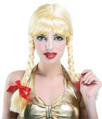 Pigtail Wig. Blonde