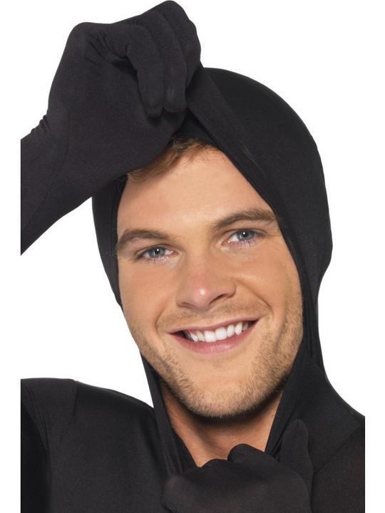 Black Second Skin Suit Fancy Dress Costume Thumbnail 2