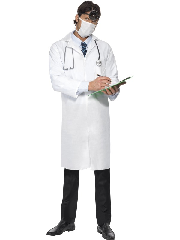 Doctors White Coat and Fancy Dress Mask