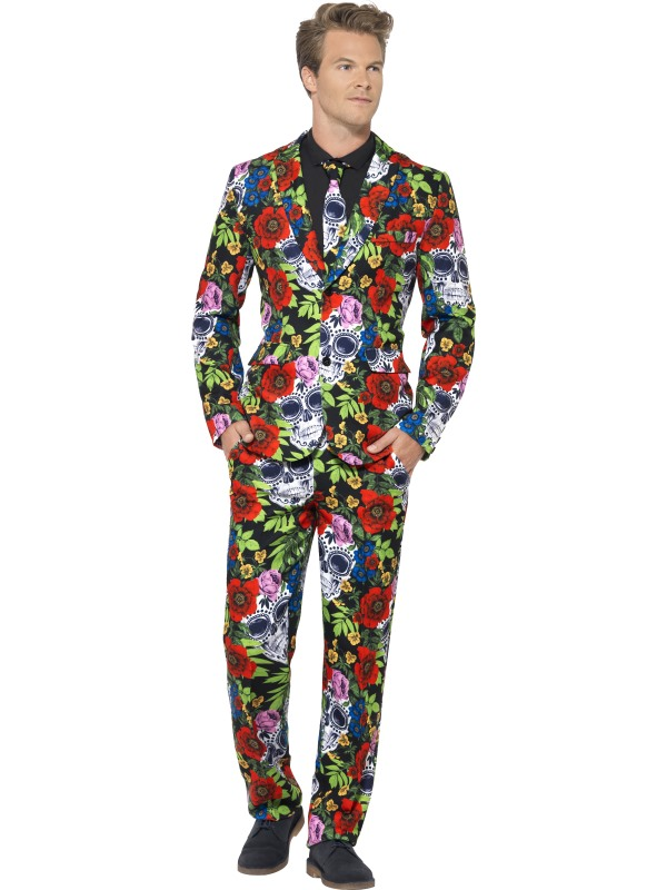 Day of the Dead Suit Fancy Dress Costume