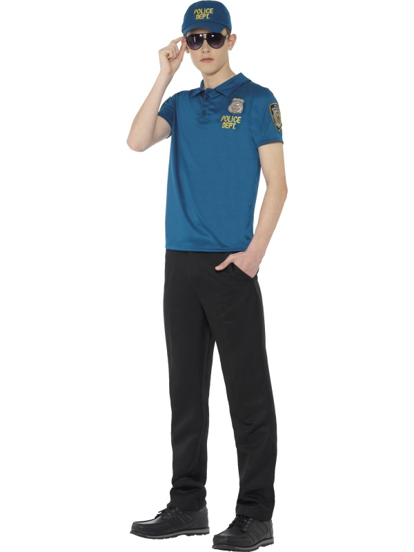 Teen Cool City Cop Instant Kit Fancy Dress