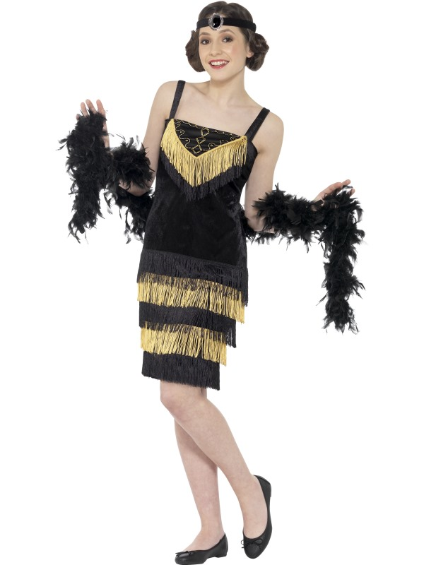 Teen Flapper Girl Fancy Dress Costume