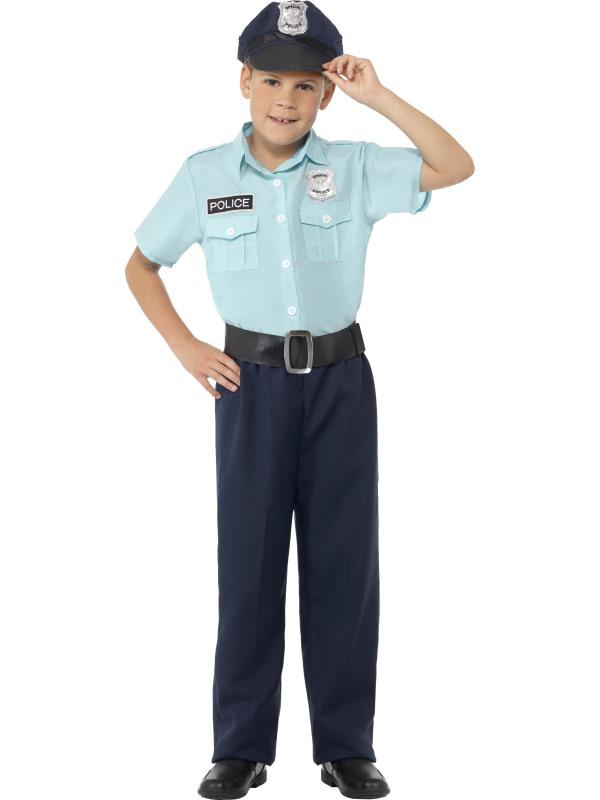 Boy's Police Officer Fancy Dress Costume