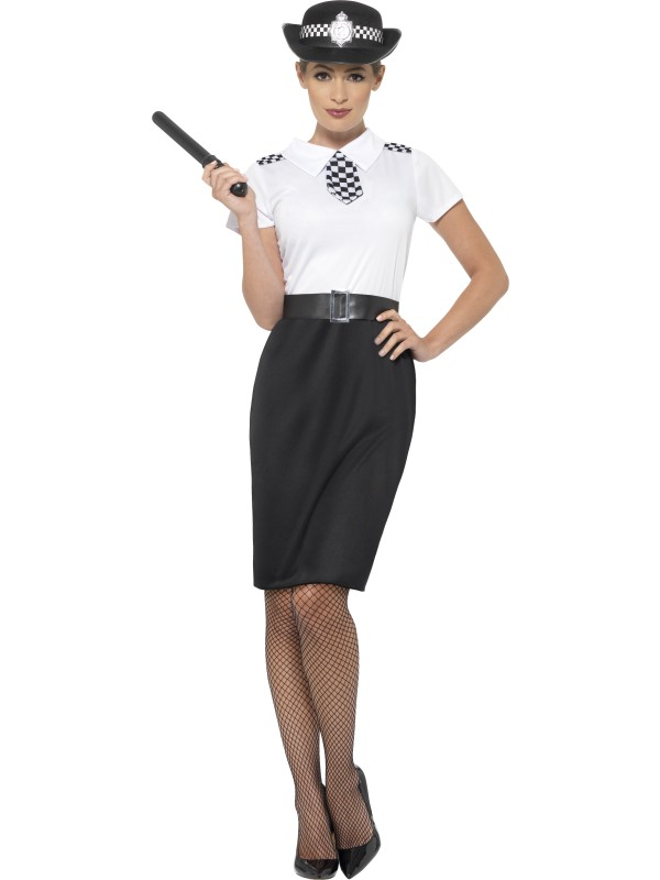 British Police Lady Fancy Dress Costume