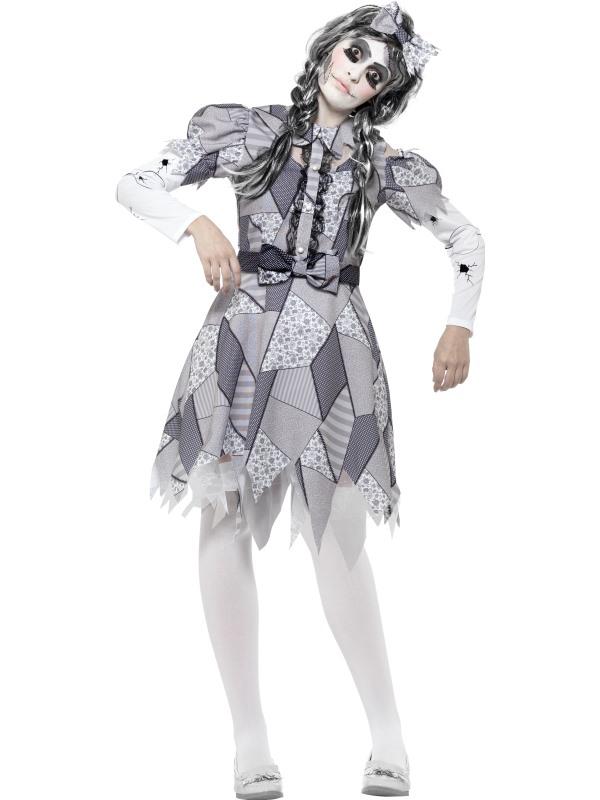 Women's Damaged Doll Fancy Dress Costume