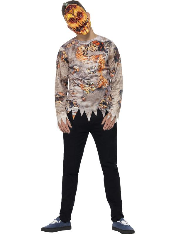 Teen Halloween Poison Pumpkin Costume Kids Horror Fancy Dress Outfit
