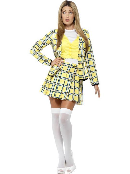 Women's Clueless Cher Fancy Dress Costume Thumbnail 1