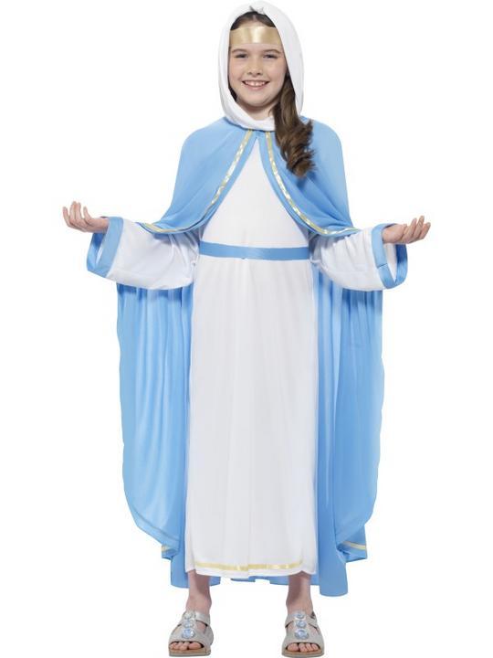 Girl's Nativity Mary Costume Thumbnail 1