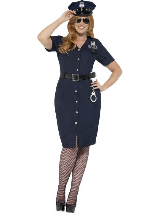 Women's Curves NYC Cop Costume Thumbnail 1