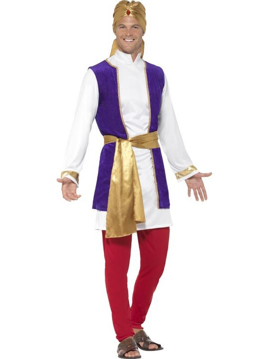 Men's Arabian Prince Fancy Dress Costume Thumbnail 1