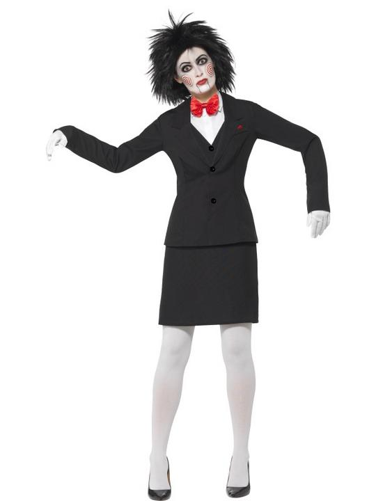 Women's Saw Jigsaw Fancy Dress Costume Thumbnail 1