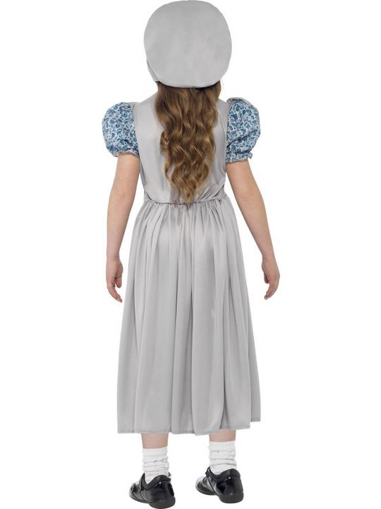 Girls Victorian School Girl Book Week Costume Kids Fancy Dress Outfit Thumbnail 3