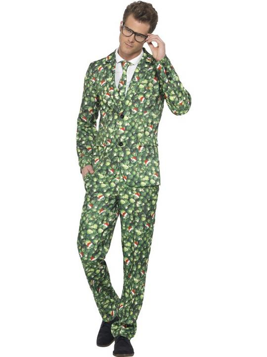 Brussel Sprout Suit Fancy Dress Costume Thumbnail 1