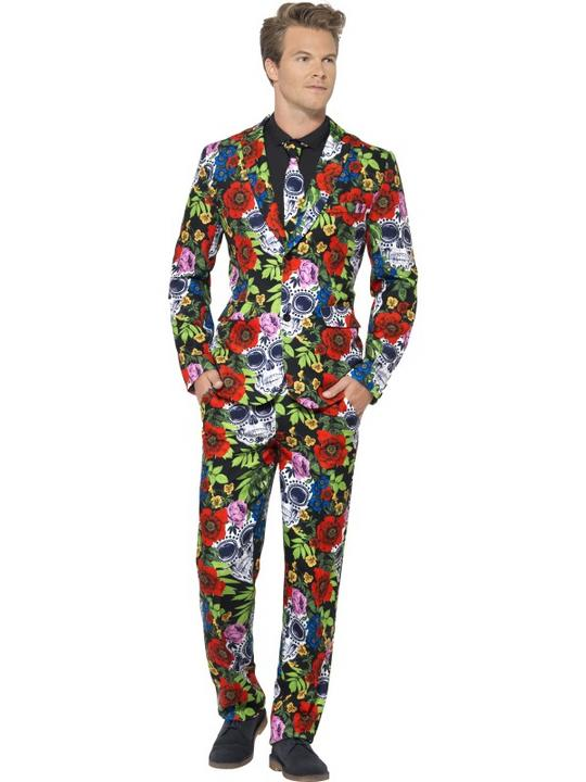 Day of the Dead Suit Fancy Dress Costume Thumbnail 1