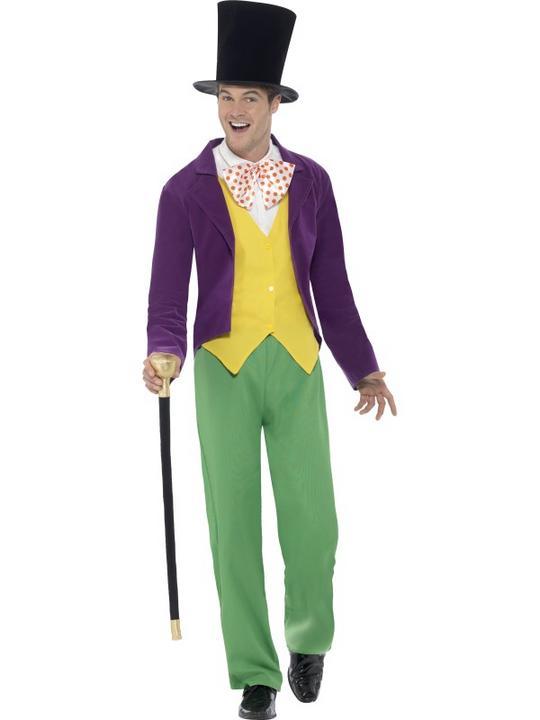 Men's Roald Dahl Willy Wonka Costume Thumbnail 1