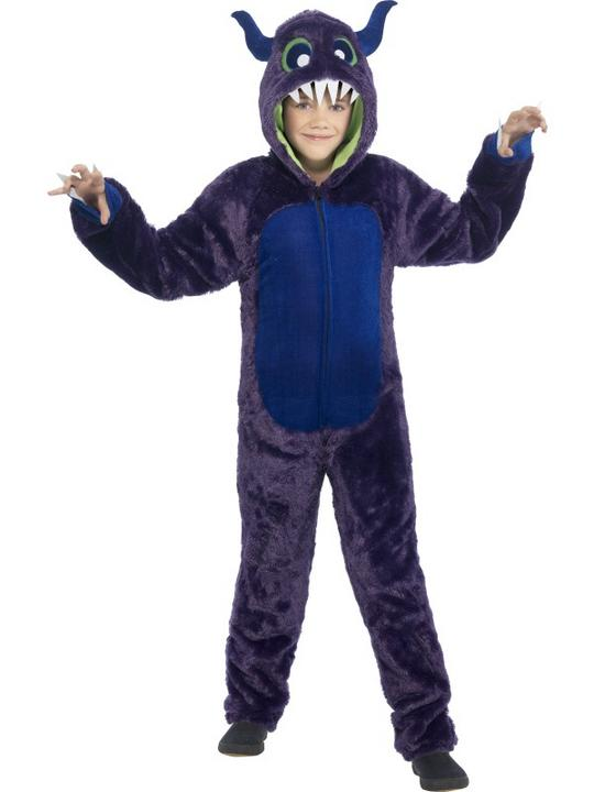 Boys Halloween Monster Costume Kids Horror Fancy Dress Outfit Thumbnail 2