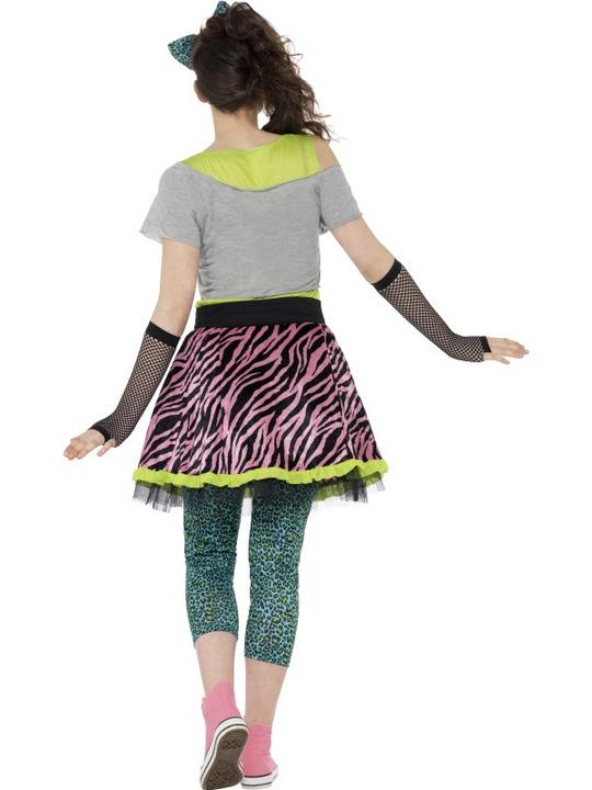 Remember The 80's Wild Child Ladies Fancy Dress Costume Hen Night Outfit Thumbnail 3