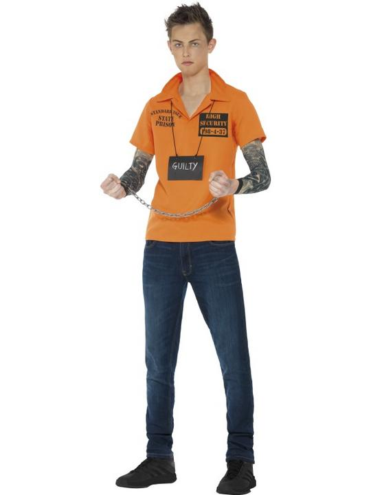Convict Fancy Dress Instant Kit Teen Thumbnail 1
