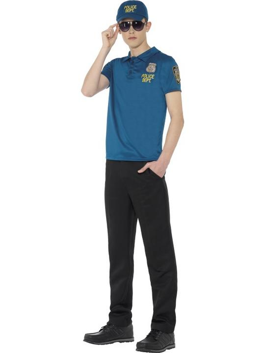 Teen Cool City Cop Instant Kit Fancy Dress Thumbnail 1