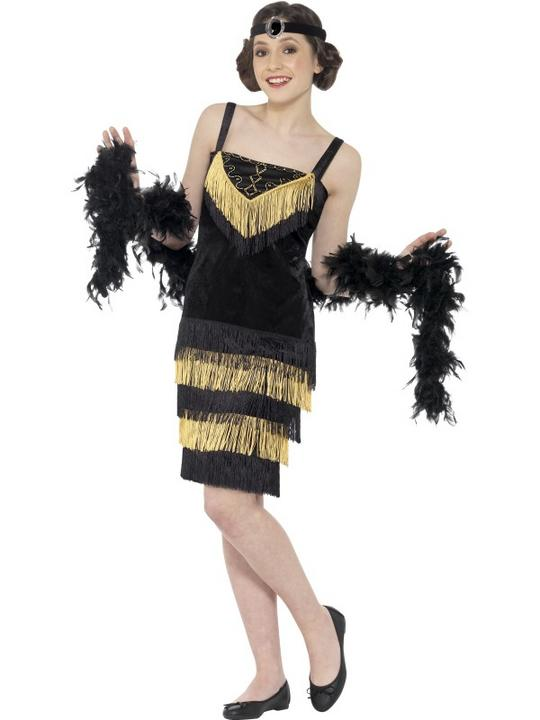 Teen Flapper Girl Fancy Dress Costume Thumbnail 1
