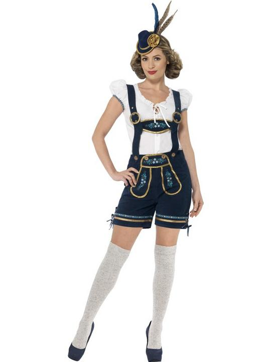 Traditional Deluxe Bavarian Girl Ladies Fancy Dress Costume Party Outfit Thumbnail 1