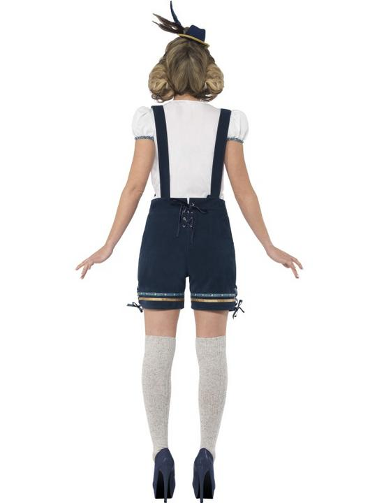 Traditional Deluxe Bavarian Girl Ladies Fancy Dress Costume Party Outfit Thumbnail 3