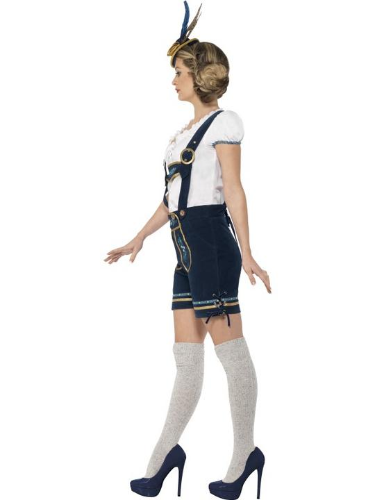 Traditional Deluxe Bavarian Girl Ladies Fancy Dress Costume Party Outfit Thumbnail 2