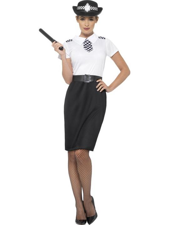 British Police Lady Fancy Dress Costume Thumbnail 1