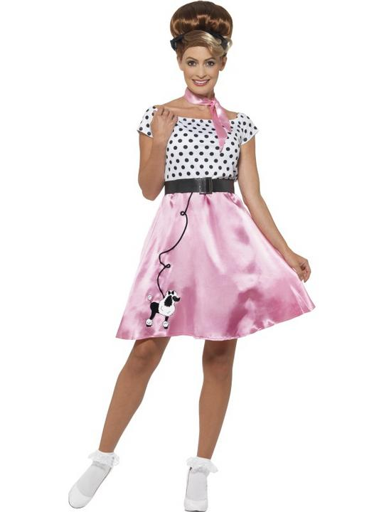 Women's 50's Rock 'n' Roll Fancy Dress Costume Thumbnail 1
