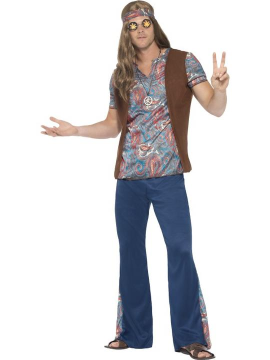Men's Orion the Hippie Fancy Dress Costume Thumbnail 1