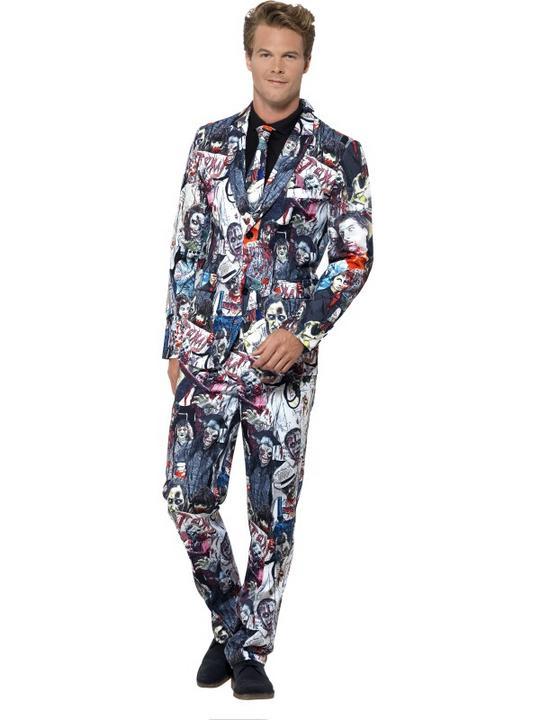 Men's Zombie Suit Fancy Dress Costume Thumbnail 1