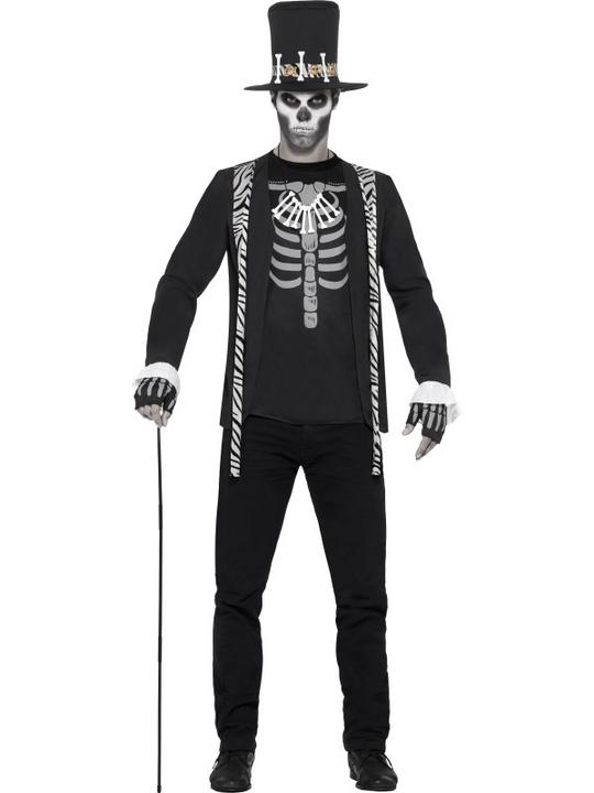 Mens Halloween Witch Doctor Costume Gents Halloween Fancy Dress Outfit Thumbnail 1