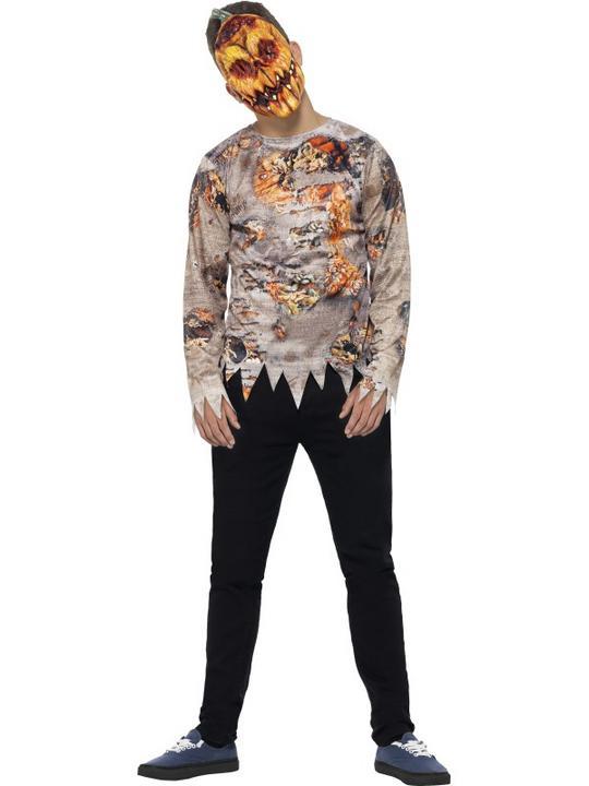 Teen Halloween Poison Pumpkin Costume Kids Horror Fancy Dress Outfit Thumbnail 1