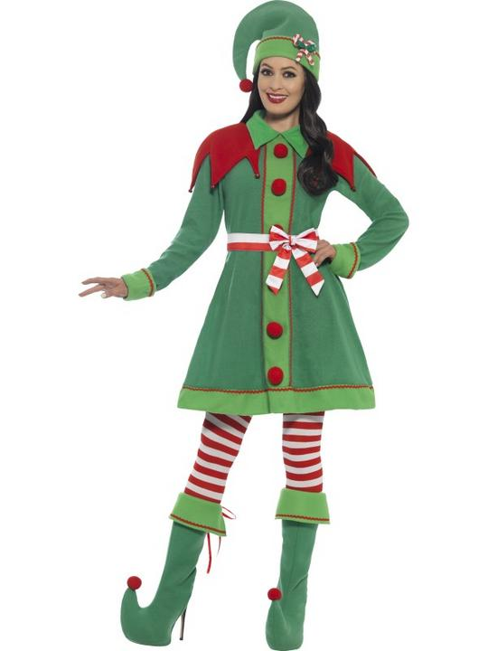 Women's Deluxe Miss Elf Costume Thumbnail 1