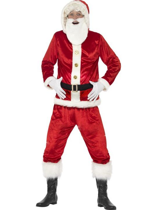 Men's Jolly Santa Fancy Dres Costume Thumbnail 1