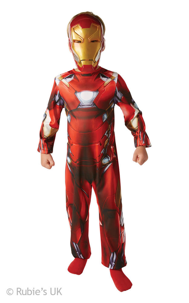 Boy's Classic Iron Man Civil War Fancy Dress Costume