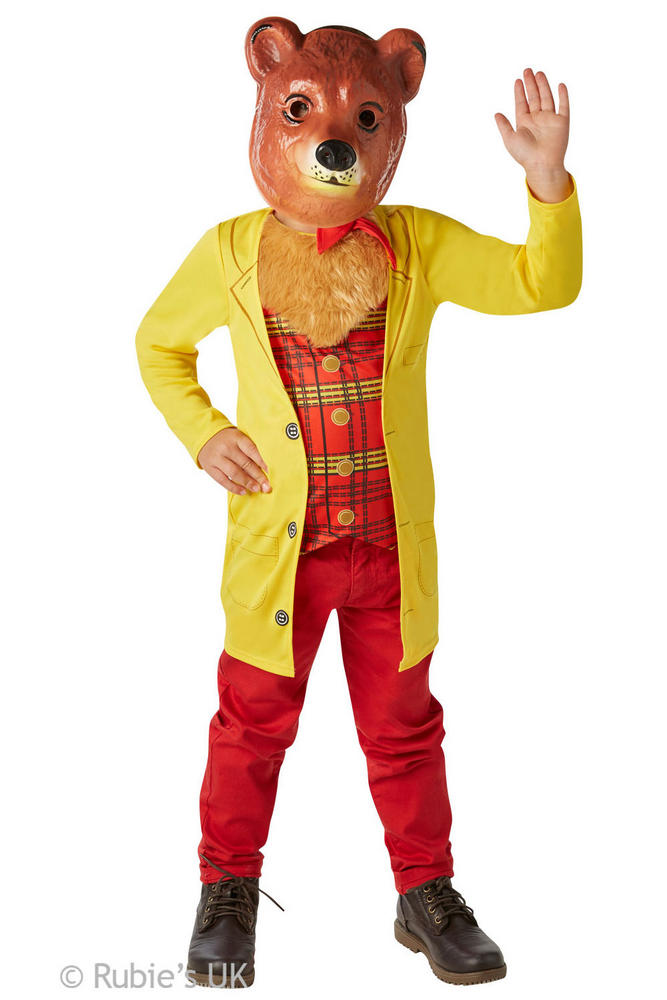 Boys Book Week Mr Bear Costume Kids Fancy Dress Outfit