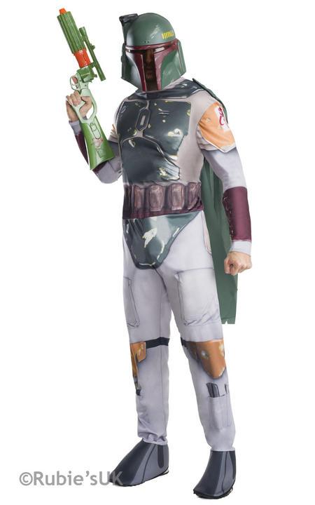 Men's Disney Star Wars Boba Fett Fancy Dress Costume Thumbnail 1